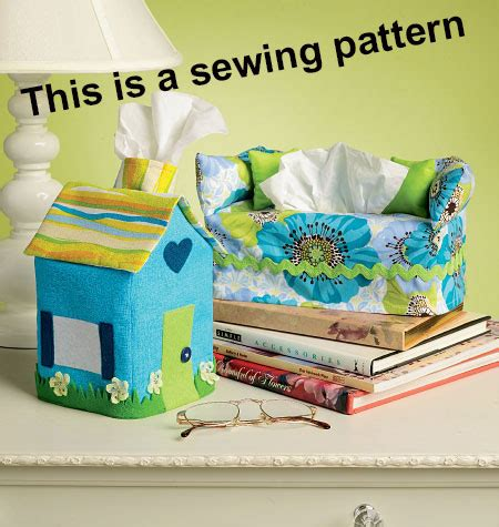 sofa tissue box cover pattern kwik sew sewing pattern 4049 fabric tissue box covers