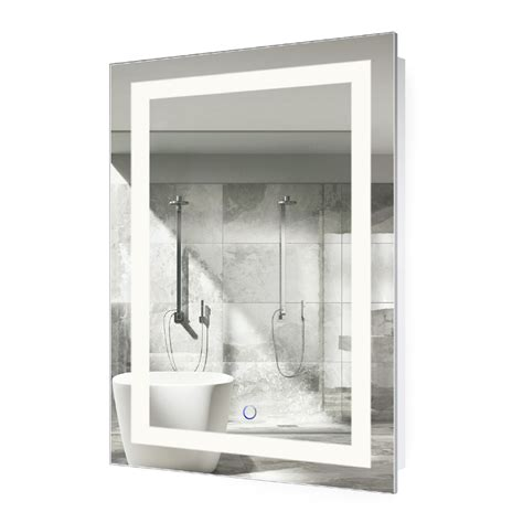 bathroom mirror defogger led bathroom mirror defogger dimmer vertical 18 quot l