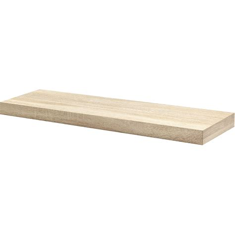 oak floating shelf kit 900x250x50mm mastershelf