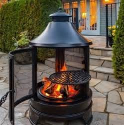 Square Chiminea Garden Grill Pit Barbecue Cooking Log Heater Burner