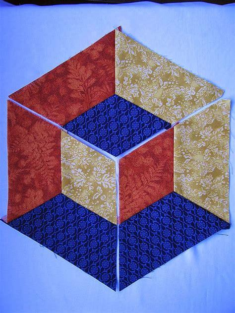 Patchwork Blocks - patchwork arte em tecidos cubo tridimensional patchwork