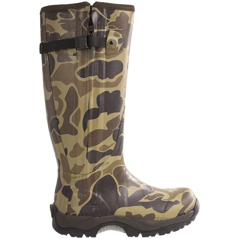 rubber boots for mst side zip camo knee high mudder rubber boots for