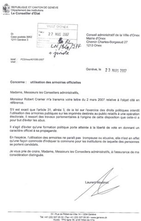 Exemple De Lettre Administrative A Forme Personnelle Exemple Lettre Administrative Suisse
