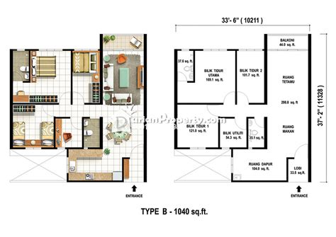 different floor plans condo for sale at pinang laguna kung jawa for rm