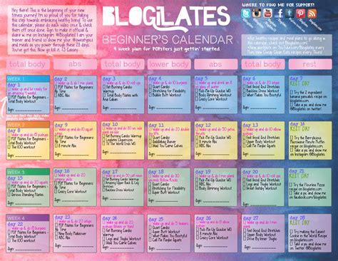 Easy Calendar Pop Pilates For Beginners Calendar