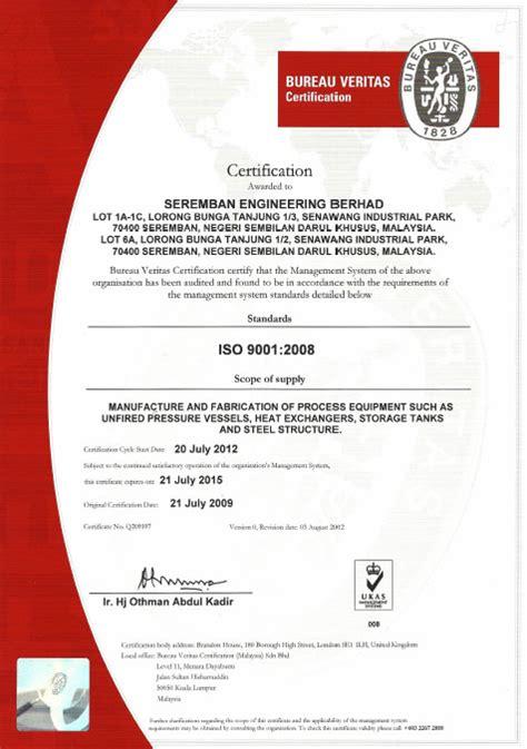bureau veritas courses bureau veritas certification seremban engineering berhad