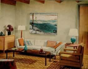 1960s living room blue brown 1960s living room warm cool tones george