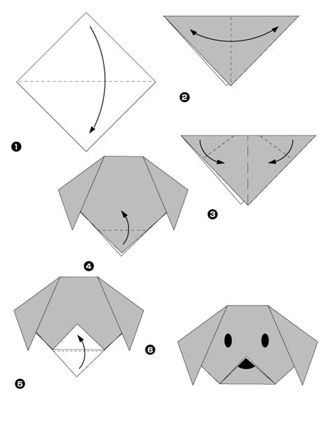 Origami Chat - origami tr 232 s facile du chien en papier origami day