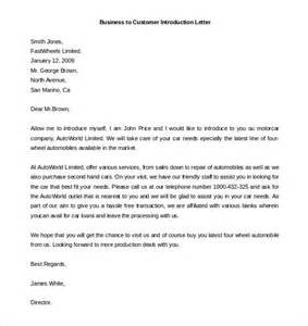Introduction Letter Format To Company 10 Letter Of Introduction Templates Free Sle Exle Format Free Premium