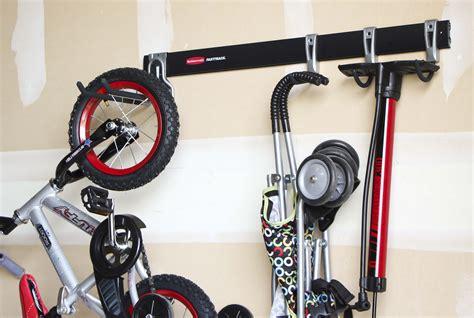 Rubbermaid Bike Rack by Garage Organization Honeybear