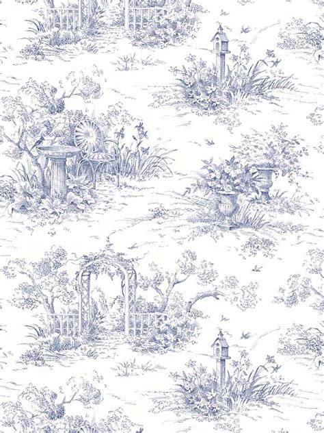 wallpaper toile blue toile de jouy image research nemophilist nilly