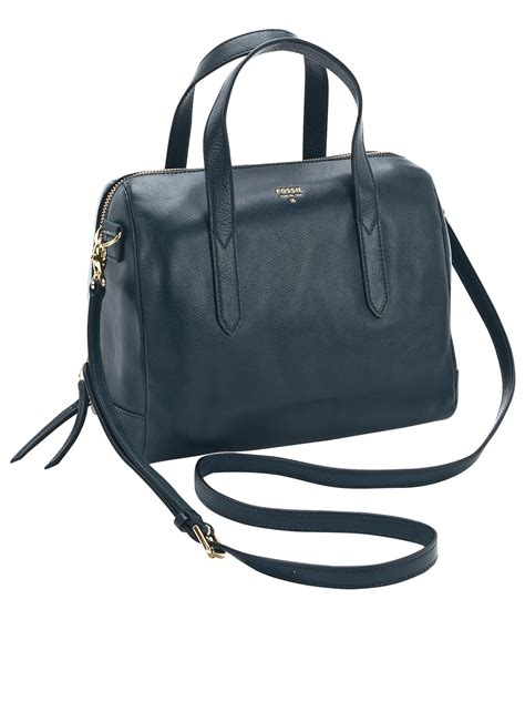Fossil Satchel Blue fossil fossil sydney leather satchel in blue heritage blue lyst