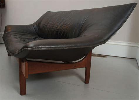 mid century leather loveseat mid century danish leather loveseat at 1stdibs