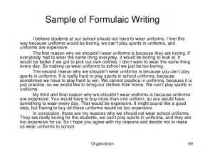 Should Students Wear To School Essay by High School Writing Test And Assessment Guide