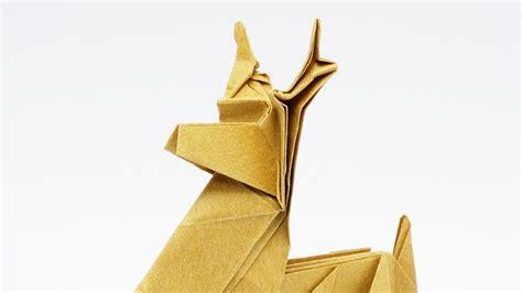 Origami Jo - origami reindeer jo nakashima time lapse
