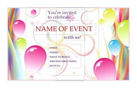 free templates for invitation flyers download free event flyers