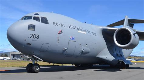 antarctic raaf plane takes from hobart the examiner