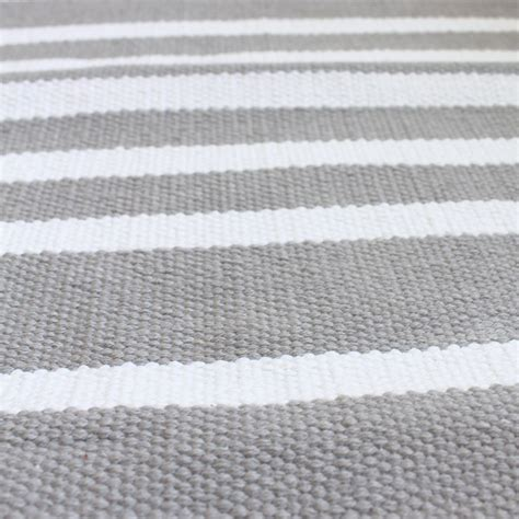 Harbor Grey Stripe Cotton Rug Jo Ellen Designs Cotton Rugs