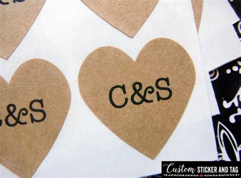 personalised wedding stickers for envelopes 108 custom wedding stickers 75 inch brown kraft