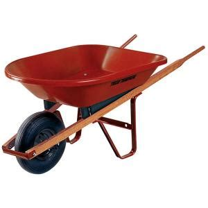 true temper 4 cu ft poly wheelbarrow pw4ut24 the home