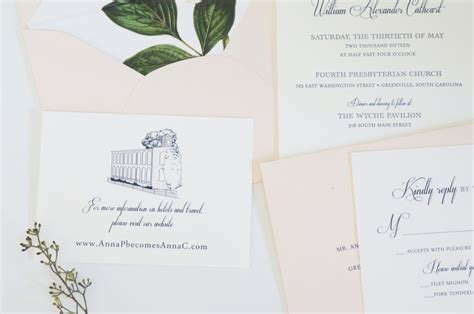 Wedding Invitations Greenville Sc by Greenville Wedding Invitation Sc By Dodeline Design