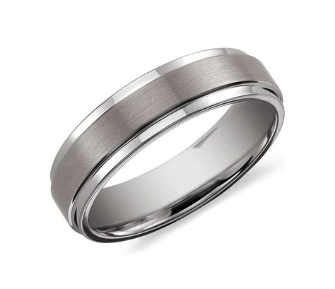 comfort fit band brushed and polished comfort fit wedding ring in classic