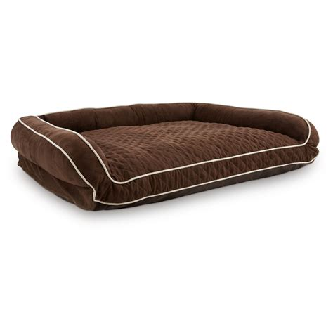 memory foam pet bed memory foam brown couch dog bed petco