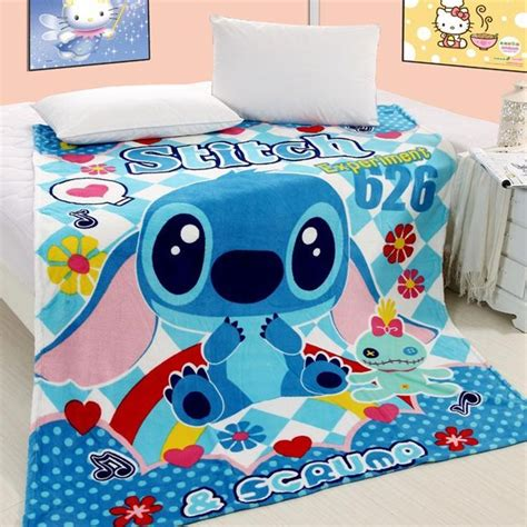 stitch bedding lilo and stitch air conditioning blanket coral fleece