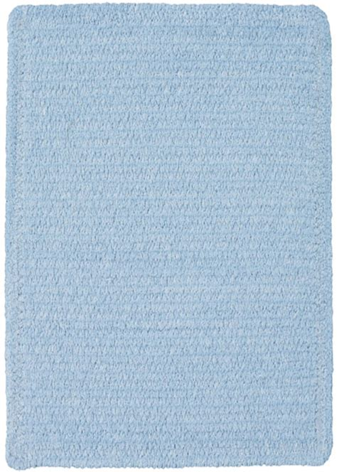 Light Blue Rugs by Custom Creations Braided Rug In Light Blue By Capel Rugs