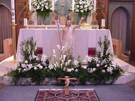 Pin by Sandy North on Christmas flowers   Easter altar