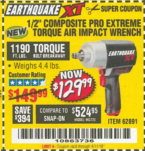 earthquake xt harbor freight tools coupon database free coupons 25