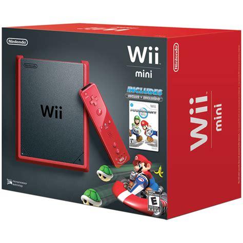 console wii mini nintendo wii mini console w nunchuk controller mario