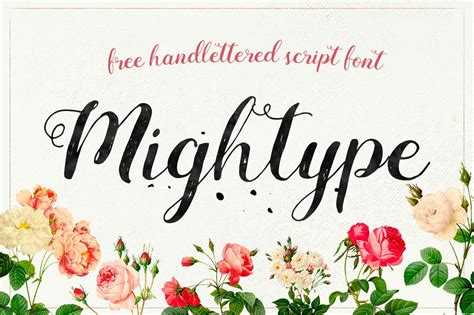 Best Resume Updates by Mightype Free Handlettered Script Font By Af Studio Creativebooster
