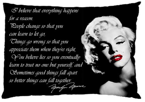 marilyn monroe quote i believe marilyn monroe quote i believe pillow case one side home