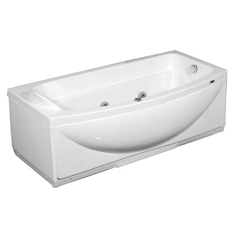 4 foot 6 inch bathtub aston mt601 l 5 6 ft whirlpool tub in white with left