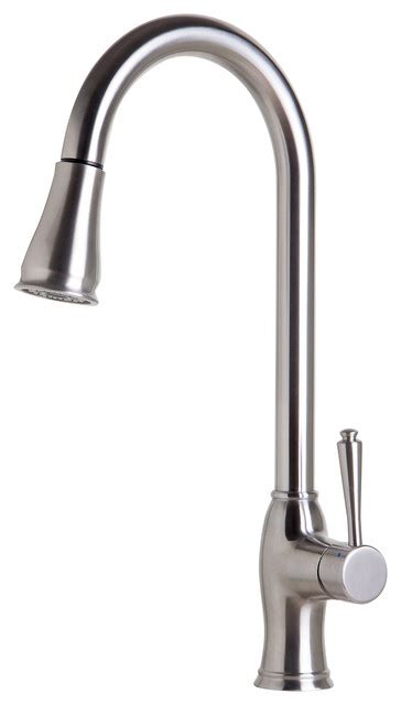 houzz kitchen faucets traditional solid brushed stainless steel pull