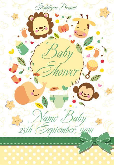 baby shower flyer templates free freepsdflyer baby shower free flyer template