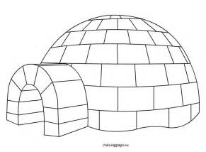 Igloo  Coloring Page sketch template