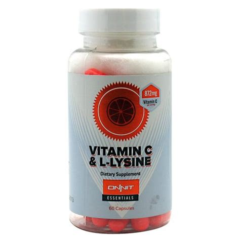 Vitamin U Lysin Onnit Vitamin C L Lysine 60ct Import It All