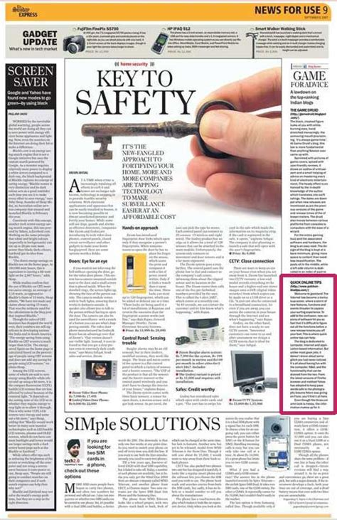 newspaper games section qot blog featured on indian express newspaper