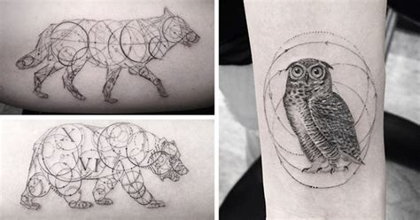 bored panda tattoo artist geometric tattoos by dr woo who s been experimenting with