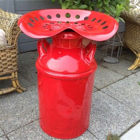Tractor Seat Milk Can Stool by A Milk Can Tractor Seat Stool I Salvaged And Painted
