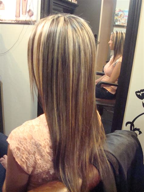 highlights for black hair and layered for ladies over 50 long layers dark hair with blonde highlights ladies