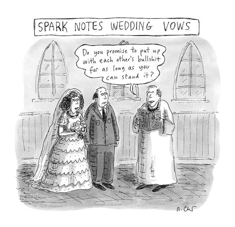 Wedding New Yorker by Spark Notes Marriage Vows A Minister Says By Roz Chast