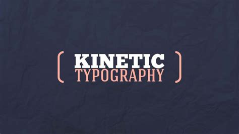 typography kinetic expressing yourself with kinetic typography