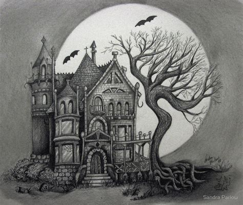 quot spooky house quot by sandra parlow redbubble