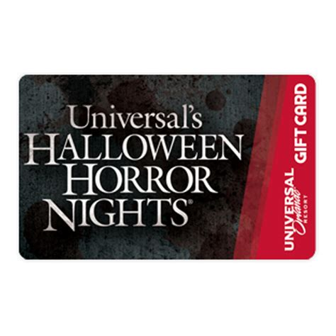 Universal Studios Hollywood Gift Card - your wdw store universal collectible gift card halloween horror nights logo