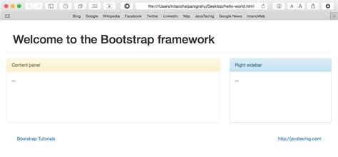 bootstrap 3 tutorial create your first one page creating first bootstrap page stacktips