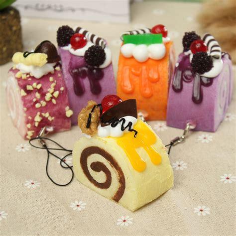 Squishy Fruit Roll Cake fruit roll cake kawaii squishy bread keychain