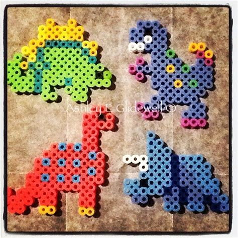 dinosaur perler bead patterns 20 best images about hama dinosaurs on perler
